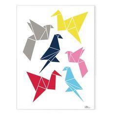 The Pippa & Ike Show * Origami birds print