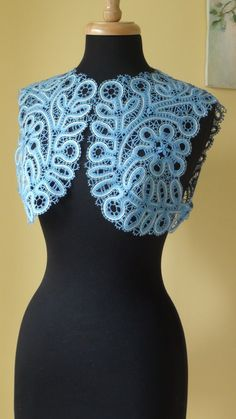 Bobbin Lace Bolero - something like this would be nice for updating some old strapless dresses... Making them a little more conservative / grown up / royalty like :-)