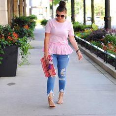 Pretty in Pink Peplum today #ontheblog juliamarieb.com http://liketk.it/2sadG #liketkit @liketoknow.it #Regram via @julia.marie.b