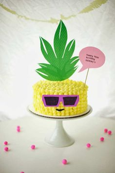 Pineapple wearing sunglasses! | 10 Crazily Creative Cakes - Tinyme Blog