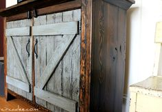 repurposed barn wood trunk - Google Search