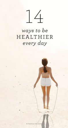 Daily habits to promote a healthier lifestyle. #healthy
