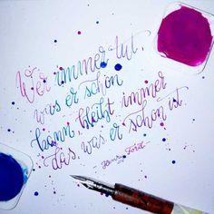 Letter Lovers sunnys_fotos: Handlettering Spruch Wer immer tut, was er schon kann, bleibt immer das, was er schon ist. Henry Ford.