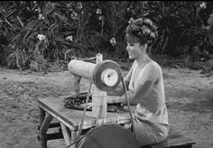 Ginger Grant sews up a storm on Gilligan's Island!