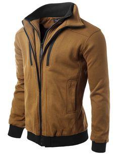 Doublju Mens Double Inner Full-Zipper Jacket #doublju