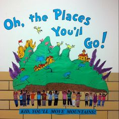 I <3 Dr. Seuss! This would be perfect in my classroom. * I think I'd put a star at the top of mountain to represent the STAAR test!