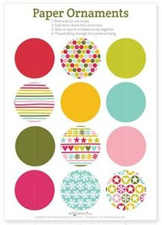 paper decorations to print and make