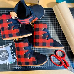 Soft Sole Baby and Toddler Hightop Shoes handmade in New Zealand Baby Booties, Baby Shoes, Hightop Shoes, Boxing Boots, Shoes Handmade, Toddler Shoes, Buffalo Plaid, Perfect Fit, High Tops