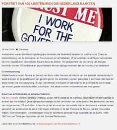 """Boek over bijzondere ambtenaren in 200 jaar koninkrijk - Binnenlands Bestuur: """"Portret van 100 ambtenaren die Nederland maakten"""" Google Chrome, Columns, Blog, Blogging"""
