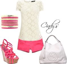"""""""Simple and Pink"""" by cindycook10 on Polyvore"""