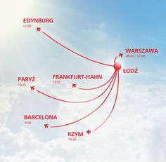 Destinations from Łódź.