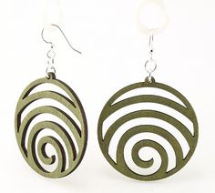 Wave Circles  Laser Cut Wood Earrings  Eco by GreenTreeJewelry, $12.95