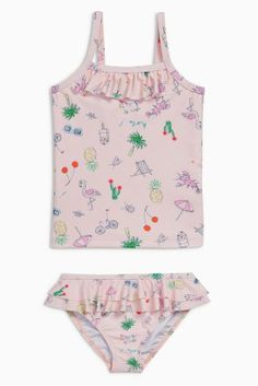 Buy Pink Printed Tankini (3mths-6yrs) online today at Next: United States of America