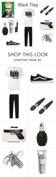 """""""Rise Above"""" by rivmisty ❤ liked on Polyvore featuring R13, Vans, Closed, Bling Jewelry, Yazi, Calibro 12, TIGI, MAC Cosmetics and Punk"""