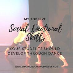 My Top 5 Social-Emotional Skills Your Students Should Develop – shannondoolingdances Dance Teacher, Dance Class, My Teacher, Dance Studio, Ballet Studio, Teacher Stuff, High School Dance, School Dances, Teach Dance