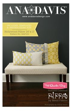 Hollywood Pillow Downloadable PDF PatternAna Davis Design
