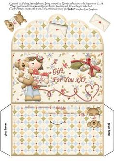 A Gift For You Money Wallet on Craftsuprint designed by Valerie Swinglehurst - A… Gift Card Basket, Gift Card Boxes, Diy Gift Box, Christmas Sheets, Christmas Envelopes, Food Gift Cards, Gift Card Bouquet, Envelope Pattern, Money Envelopes
