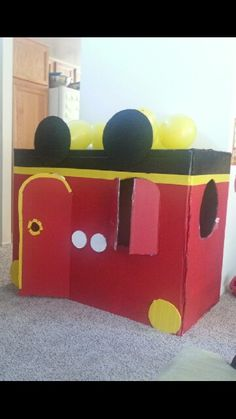 Mickey Mouse Club House Birthday! Box, Craft paint, Duck tape