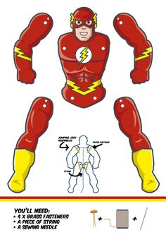 Want to have your own super-fast The Flash paper puppet? Download the file by clicking the link below. Then it's just a matter of print, cut and assemble.