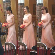 Coral/ peach bridesmaids