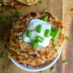 Cheesy Zucchini Fritters have crispy edges, tender insides and make a great snack or side dish to your lunch or dinner. Kids and adults love these nutritious fritters that can be customized to fit anyone's tastes.// A Cedar Spoon My Favorite Food, Favorite Recipes, Good Food, Yummy Food, Zucchini Fritters, Cheesy Recipes, Best Appetizers, Vegetable Side Dishes, Nutritious Meals