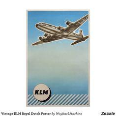 Vintage KLM Royal Dutch Poster