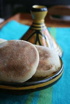 Mini Batbouts : pains à la poêle Chefs, Middle Eastern Recipes, Easy Cooking, Vegan, Breakfast, Sweet, Morocco, Food, Breads