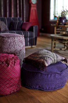 Kobe meubelstoffen Nomad - paars, roze - Beja, Masai, Samburu
