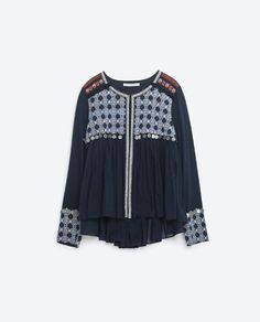 Image 8 of FLOWING EMBROIDERED JACKET from Zara