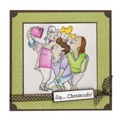 """I don't like all of the """"girlfriend"""" stamps but this one reminds me of some of my trips with friends. :o) May have to get this stamp after all."""