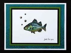 """bass fish card- Stampin'Up   ... Card Kit- """"By The Tide"""" All Occasion Fish Just for You w/ Stampin Up"""