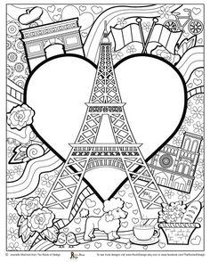 Paris Coloring pages i watch