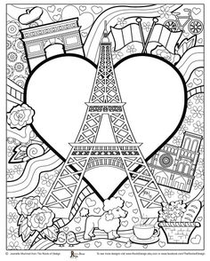 paris coloring pages i watch - France Eiffel Tower Coloring Page