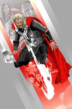 thor 3 Awesome Illustrated Marvel Posters For Captain America: The Winter Soldier, Thor: The Dark World & Iron Man 3