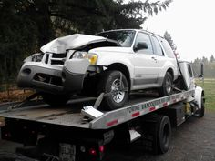 After winching the #FordExplorer off the tree we got it loaded onto Truck #1 and towed it to Vancouver WA