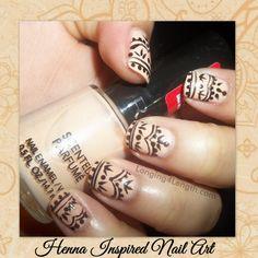 Henna Inspired Nail Art Tutorial #nails #nailart