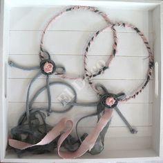 #Στέφανα Γάμου ροζ-γκρι! Μοντέρνα και chic! #Weddingwreaths