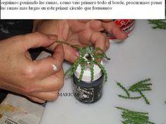 EL RINCON MINI DE MARY: tutorial cactus de invierno(Schlumbergera) y maceta de metal repujada