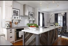 grey barnwood island from hgtv