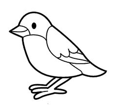 Bird Coloring Pages for Kids Art Drawings For Kids, Drawing For Kids, Easy Drawings, Bird Coloring Pages, Coloring Pages For Kids, 3d Zeichenstift, Birds For Kids, Bird Template, Drawing Tutorials For Beginners