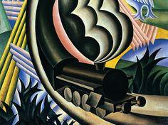 Particolare da Il treno di Fortunato Depero, 1926