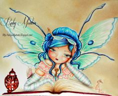 And that's all she wrote: Book worm Fairy for Crafts and Me Challenge Tattoo Inspiration, Color Inspiration, Fairy Drawings, Hannah Lynn, Fairy Art, Cool Paintings, Copics, Copic Markers, Betty Boop