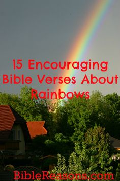 Bible verses about rainbows The rainbow was a sign from God to Noah that He promised never to destroy the earth by flood for the judgment of sin. The rainbow Encouraging Bible Verses, Bible Encouragement, Biblical Quotes, Favorite Bible Verses, Religious Quotes, Bible Scriptures, Bible Quotes, Faith Verses, Rainbow Bible