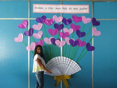 shown as a bulletin board. Scale down w/ hearts glued to very stiff fishing line so they move Class Decoration, Ana White, Origami, Classroom, Crafty, Education, Home Decor, Rotary, Bulletin Board