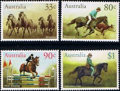 Australia 1986 Australian Horses Set Fine Mint SG 1233 6 Scott 1166 9  Other Australian Stamps HERE