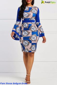 Hey Ladies this classy flare sleeve dress is killing it. It is perfectly designed and made for the Plus curvy woman. Available in two amazing colors and is a definite boost to your wardrobe. Plus size dresses to wear to a wedding flare sleeve dress classy African Fashion Ankara, Latest African Fashion Dresses, African Dresses For Women, African Print Dresses, African Print Fashion, African Attire, Africa Fashion, Dress Fashion, African Prints