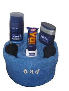 father's day towel cake