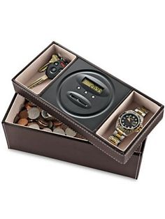 Make the most of your spare change with a Dresser Valet and Digital Coin Counter | Solutions.com #Gift #Holidays #Christmas $24.98