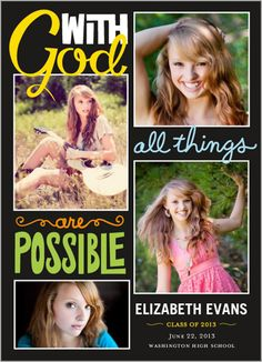 Anything Is Possible Graduation Announcement