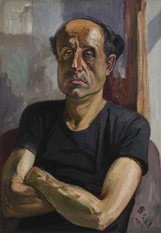Alice Neel: Portrait of Sam (1958)  Art Experience NYC  www.artexperiencenyc.com